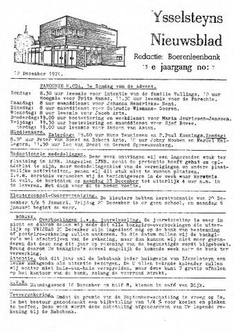 Ysselsteyns Nieuwsblad 1974-12-12
