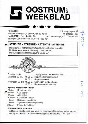 Oostrum's Weekblad 1997-10-16