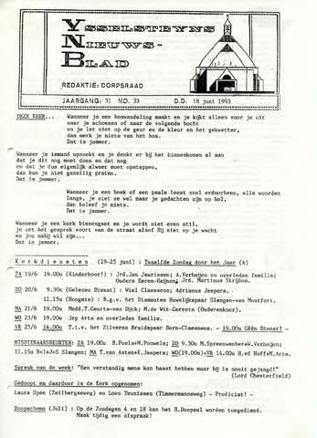 Ysselsteyns Nieuwsblad 1993-06-18