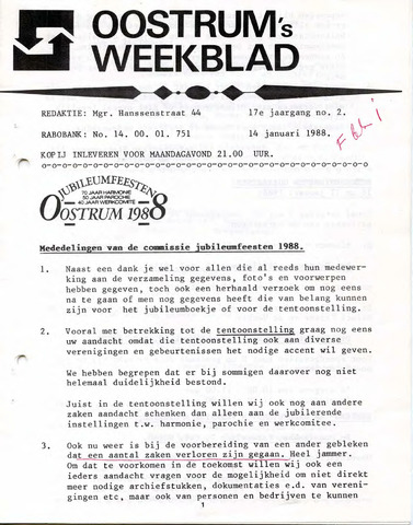 Oostrum's Weekblad 1988-01-14
