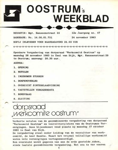 Oostrum's Weekblad 1983-11-24