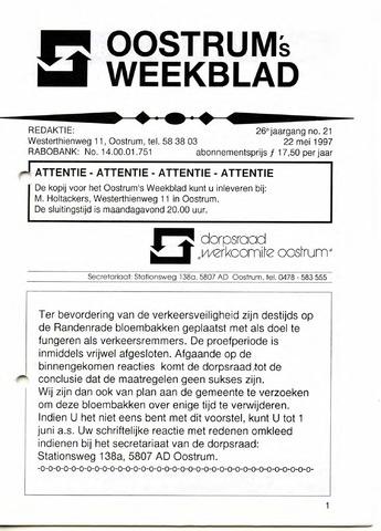 Oostrum's Weekblad 1997-05-22