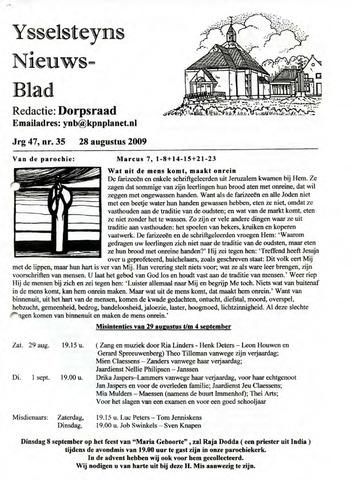 Ysselsteyns Nieuwsblad 2009-08-28