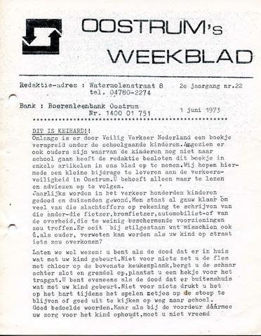 Oostrum's Weekblad 1973-06-01