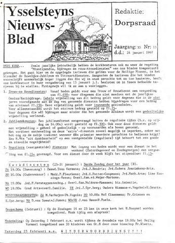 Ysselsteyns Nieuwsblad 1997-01-24