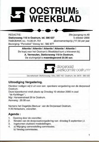 Oostrum's Weekblad 2000-10-05
