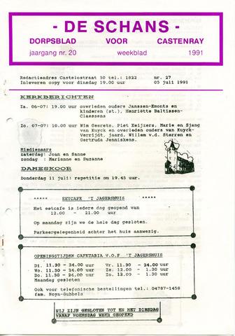 Castenrays dorpsblad De Schans 1991-07-05