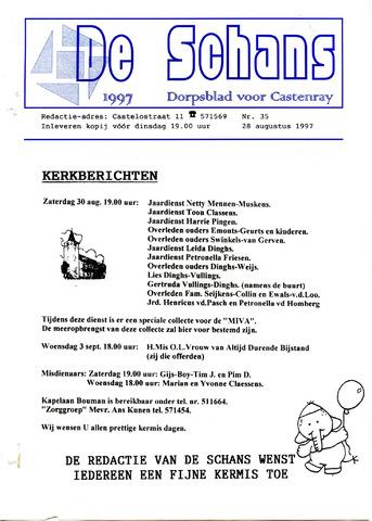 Castenrays dorpsblad De Schans 1997-08-28