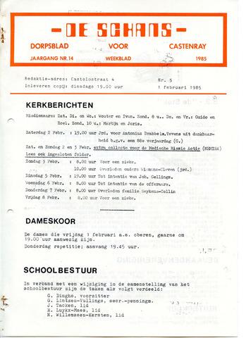 Castenrays dorpsblad De Schans 1985-02-01