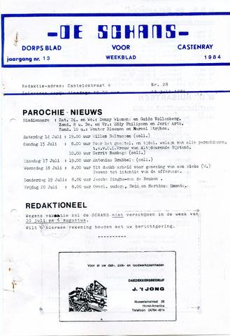 Castenrays dorpsblad De Schans 1984-07-13