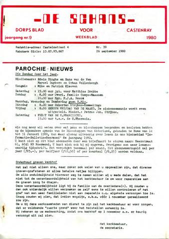 Castenrays dorpsblad De Schans 1980-09-26