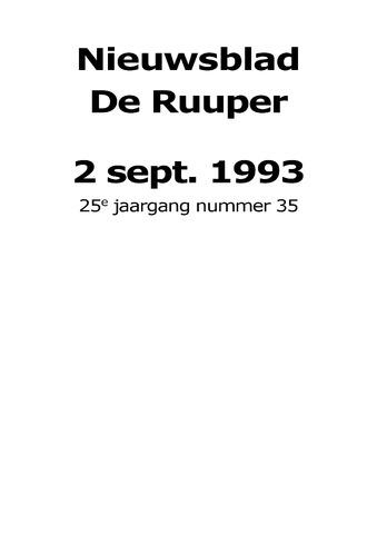 Dorpsblad Leunen-Veulen-Heide 1993-09-02