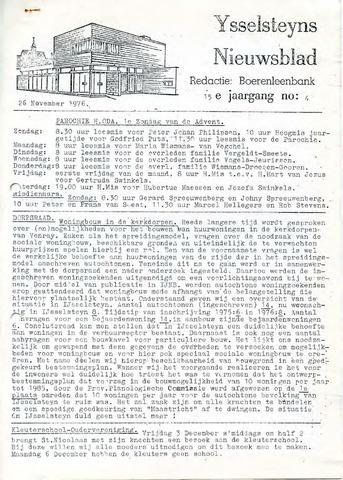 Ysselsteyns Nieuwsblad 1976-11-26