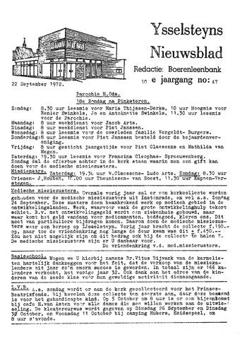 Ysselsteyns Nieuwsblad 1972-09-22