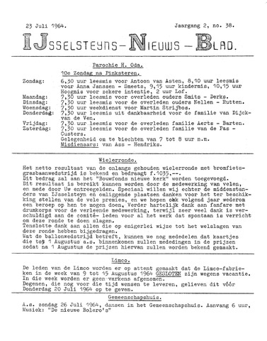 Ysselsteyns Nieuwsblad 1964-07-23
