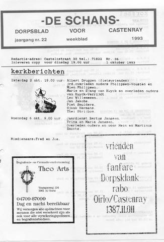 Castenrays dorpsblad De Schans 1993-10-01