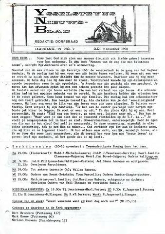 Ysselsteyns Nieuwsblad 1990-11-09