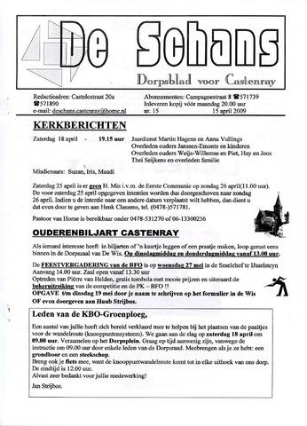 Castenrays dorpsblad De Schans 2009-04-15