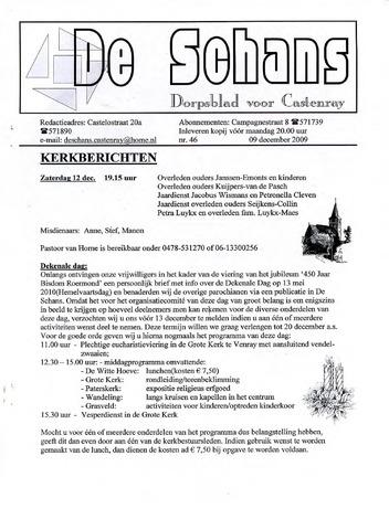 Castenrays dorpsblad De Schans 2009-12-09