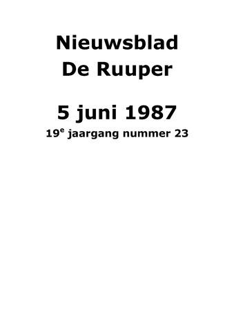 Dorpsblad Leunen-Veulen-Heide 1987-06-05