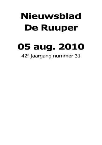 Dorpsblad Leunen-Veulen-Heide 2010-08-05