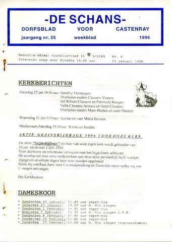 Castenrays dorpsblad De Schans 1996-01-25