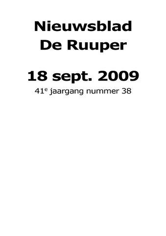 Dorpsblad Leunen-Veulen-Heide 2009-09-18