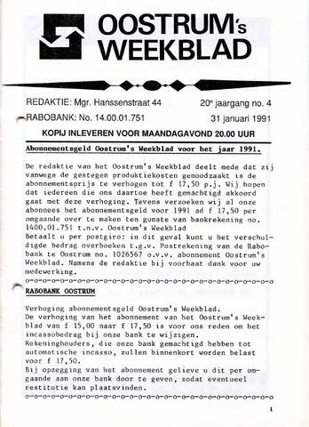 Oostrum's Weekblad 1991-01-31