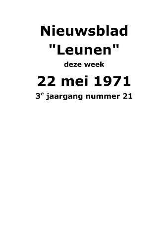 Dorpsblad Leunen-Veulen-Heide 1971-05-22