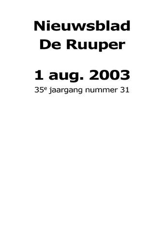 Dorpsblad Leunen-Veulen-Heide 2003-08-01