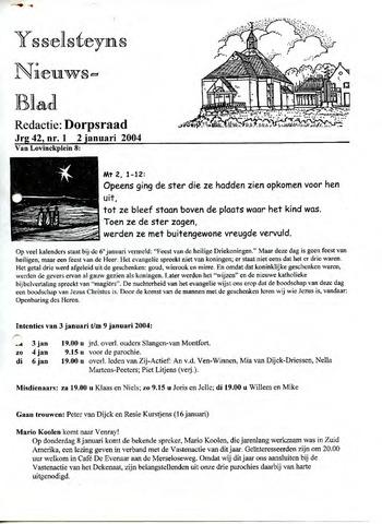 Ysselsteyns Nieuwsblad 2004-01-02