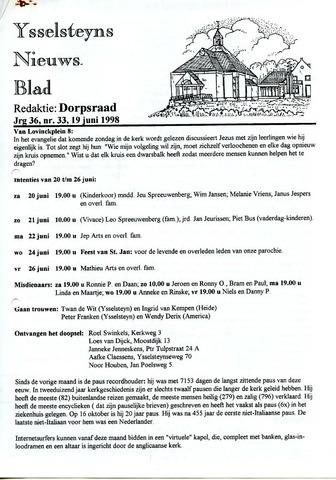 Ysselsteyns Nieuwsblad 1998-06-19