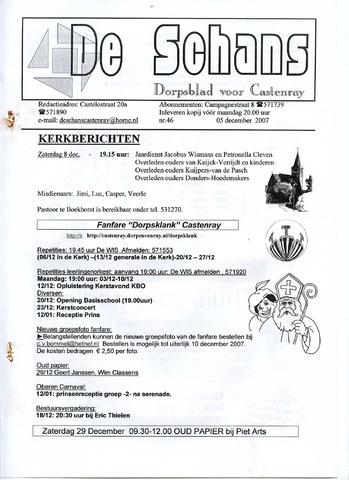 Castenrays dorpsblad De Schans 2007-12-05