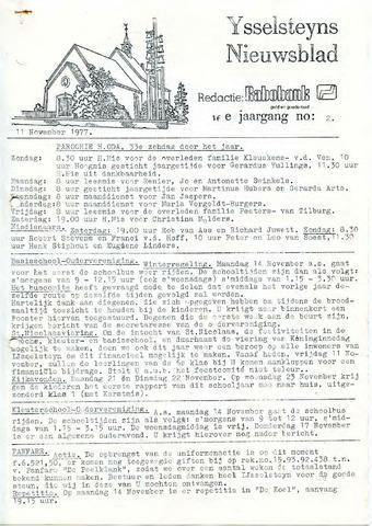 Ysselsteyns Nieuwsblad 1977-11-11