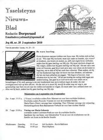 Ysselsteyns Nieuwsblad 2010-09-03