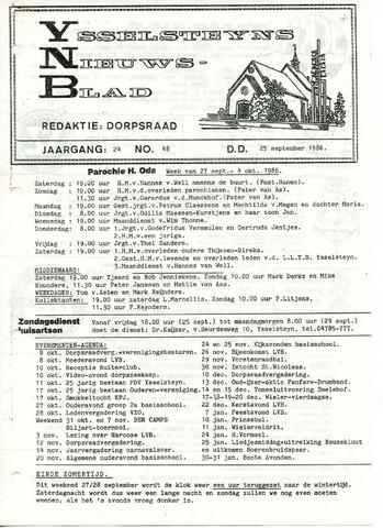 Ysselsteyns Nieuwsblad 1986-09-25