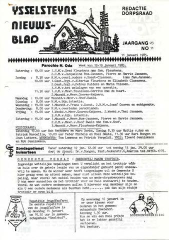 Ysselsteyns Nieuwsblad 1985-01-11