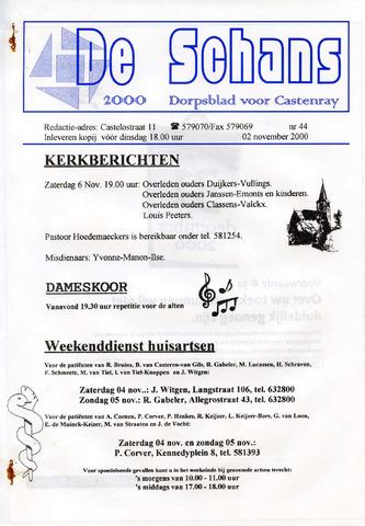 Castenrays dorpsblad De Schans 2000-11-02