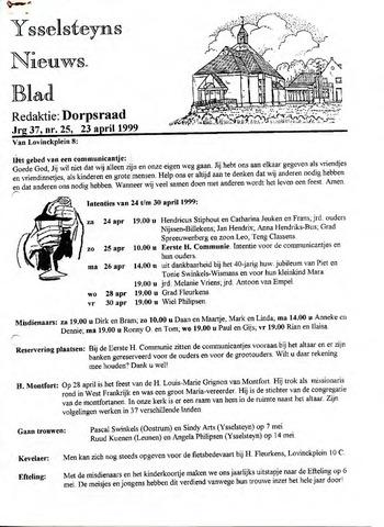 Ysselsteyns Nieuwsblad 1999-04-23