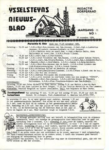 Ysselsteyns Nieuwsblad 1984-11-16
