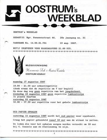 Oostrum's Weekblad 1987-08-13