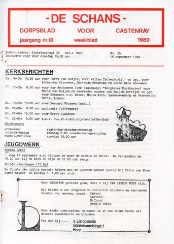 Castenrays dorpsblad De Schans 1989-09-15