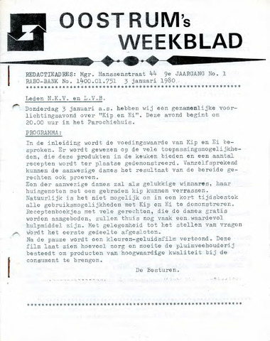 Oostrum's Weekblad 1980-01-03