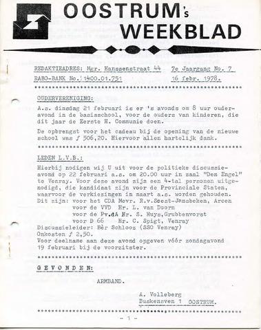 Oostrum's Weekblad 1978-02-16