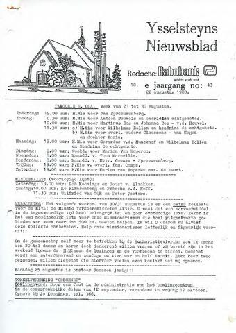 Ysselsteyns Nieuwsblad 1980-08-22
