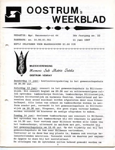 Oostrum's Weekblad 1987-06-11