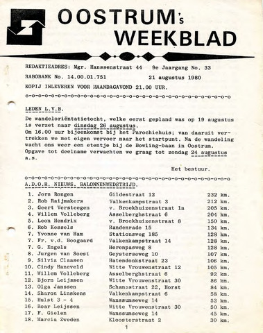 Oostrum's Weekblad 1980-08-21