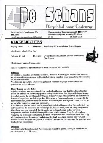 Castenrays dorpsblad De Schans 2009-03-18