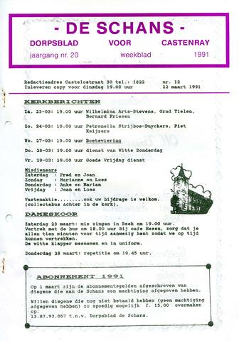 Castenrays dorpsblad De Schans 1991-03-22