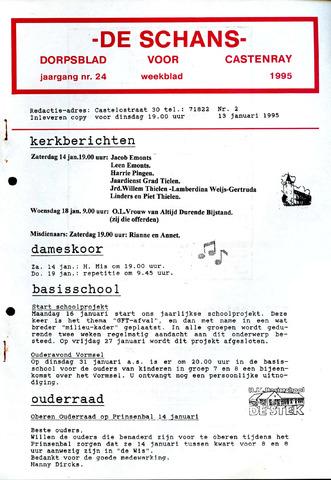 Castenrays dorpsblad De Schans 1995-01-13